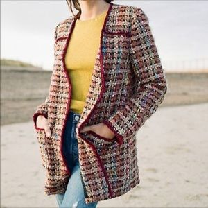Harlequin Tweed Blazer by Anthropologie